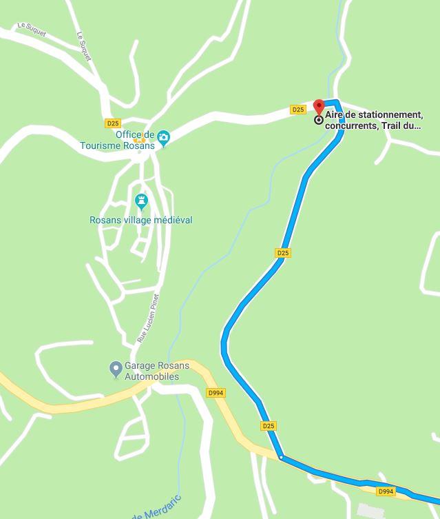Rejoindre l'aire de stationnement Trail du Fourchat en venant de Serres